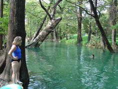 I have no idea who the people are, but this is probably the best picture of Wimberley's Blanco River.  So pretty!