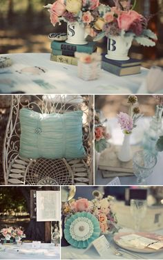 The muted colors are beautiful yet bring life to the wedding theme. Simple elegant.