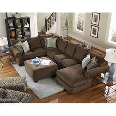 4100 Sectional Sofa by Corinthian - Wolf Furniture - Sofa Sectional Pennsylvania, Maryland, Virginia