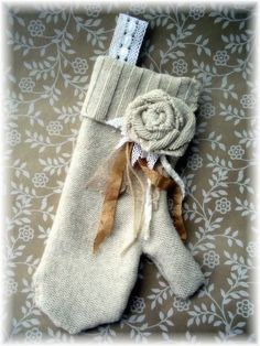 mittens made from old sweaters