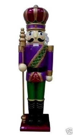 3 feet tall resign Metallic NUTCRACKER KING Christmas Decor