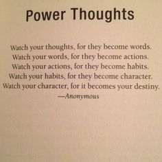 """So true - found in the book """"Power Thoughts"""" by the fabulous Joyce Meyer. Life changing book!"""