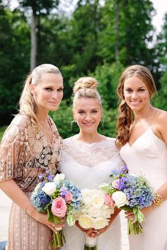 Every bridesmaid looks good in a ponytail! via @stylemepretty