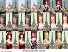 Marie Antoinette_1x3_digital collage sheet | Flickr - Photo Sharing!  Find Charm and Pendant bases, Domino Bamboo Tiels, Altered Art supplies at http://www.ecrafty.com/c-34-altered-art-supplies.aspx