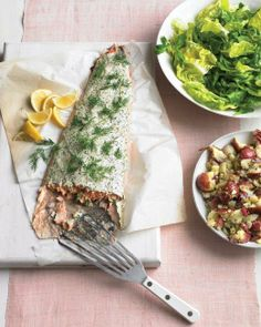 Roasted Salmon with Herbed Yogurt Recipe