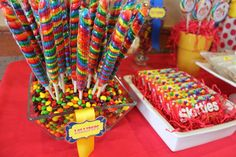 FUN colorful candy display