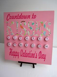 super cute... valentine's day countdown!