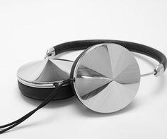 Black Leather Frends Headphones