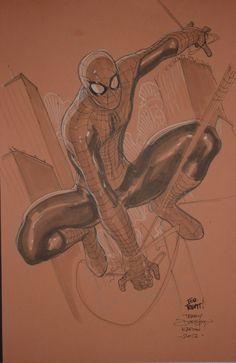 Spiderman Terry Dodson Comic Art