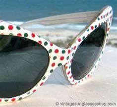 Vintage 1960s French Polka Dot Sunglasses @ Vintage Sunglasses Shop