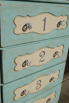 Numbered dresser. #furniture #DIY