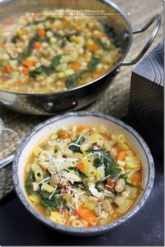 Seven Vegetable Minestrone Soup.