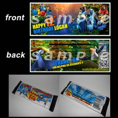 party favors, birthday parti, birthday invit, candy bar wrappers, candies, parti suppli, parti favor, parti idea, candi bar