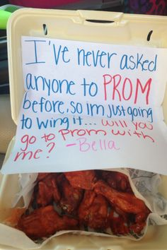 How I asked my date to prom