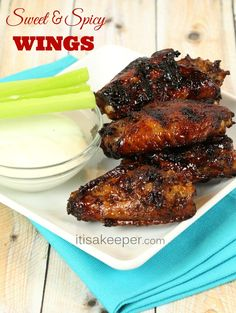 Sweet and Spicy Wings from It's a Keeper