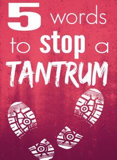 Stop a tantrum in ju
