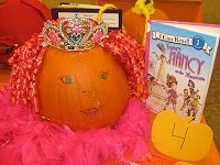 Fancy Nancy Book Character Pumpkin Decorating Contest