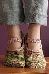Free slippers knitting patterns.