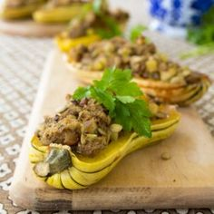 Delicata with Thanksgiving Stuffing  #HealthyAperture