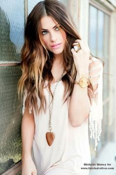 @Camille Blais Blais Harris I'm tempted because I love the dark brown and melt color... ???? Long Wavy Brunette-Blonde Ombre (a little too dark for me - but i still love it)