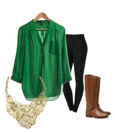 Flowy green blouse,