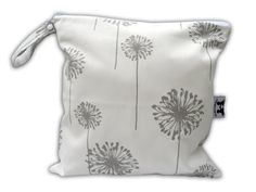 HEAT SEALED and BEST Selling Wet Bags here -Small Wet Bag in Dusty Dandelion with Snap Handle on Etsy, $18.99