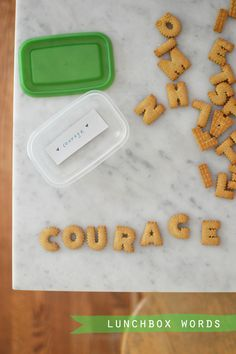 Lunchbox Words {to inspire} kid stuff, snack