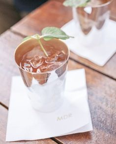 Some couples have crystal toasting flutes, but this couple opted for antique sterling silver julep cups.   See more of our Vintage at-Home Destination Wedding in Kentucky gallery.