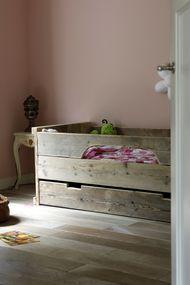 Slaapkamer oud roze