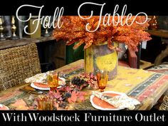 Fall Tablescape with Woodstock Furniture Outlet - All Things Heart and Home