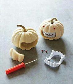 halloween parties, vampires, monster, halloween pumpkins, halloween crafts, white, jack o lanterns, minis, holiday idea
