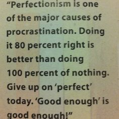 80% of something is better than a 100% of nothing