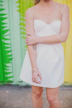 Love this #wedding dress! From http://100layercake.com/blog/2014/05/30/modern-new-york-wedding-emily-zach/  Photo Credit: http://lesloupspicturesandsongs.com/ c/o http://theweddingac.com/