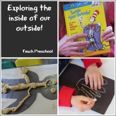 Fun ways to help kids learn about the different sizes and shapes of bones. {Teach Preschool}