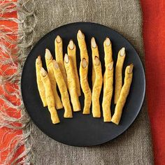 Devilish Halloween Appetizers | MyRecipes.com  These look great to dip.