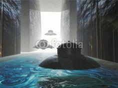 UFO: UFO secret base, art by Luca Oleastri - www.innovari.it