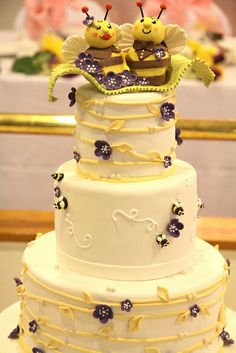 purple and yellow wedding cakes | Recent Photos The Commons Getty Collection Galleries World Map App ... beauti cake, bee themed wedding cakes
