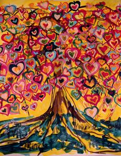 artists, family trees, sweet trees, color, martin luther, blog, heart tree, tree of life, brooklyn