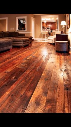 Barn wood floors