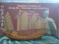 Zheng He Treasure ship model.