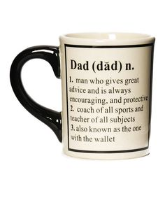 Take a look at this 'Dad' Definition 20-Oz. Mug by Tumbleweed Pottery on #zulily today!