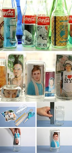 Glass jars with photos in Crafts for decorating and home decor, parties and events