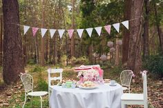 whimsical outdoor tea party