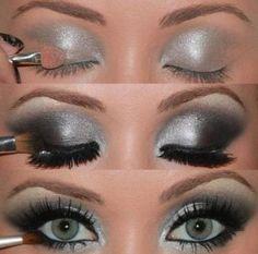 Smokey Silver Eye Make Up