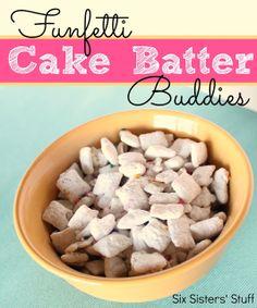 Chex Funfetti Cake Batter Buddies   Six Sisters' Stuff