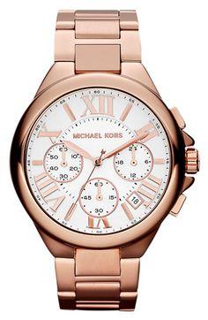 Michael Kors 'Camille' Chronograph Bracelet Watch