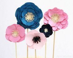 How to Make Easy Paper Flowers - Pretty Providence