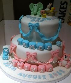 Coolest Boy Girl Christening Cake...