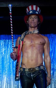 Matthew McConaughey as Uncle Sam in Magic Mike