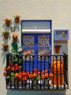 Françoise 1111: How to make balcony and geraniums